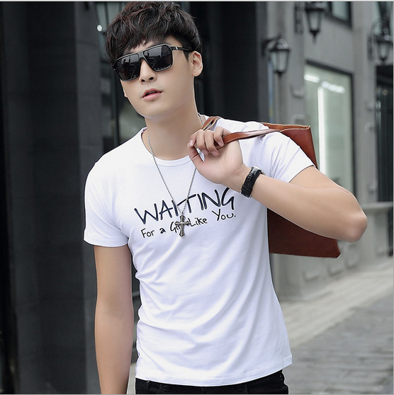 Wholesale Man Clothes 2016 Fitness Tshirt White T-shirt OEM/ODM