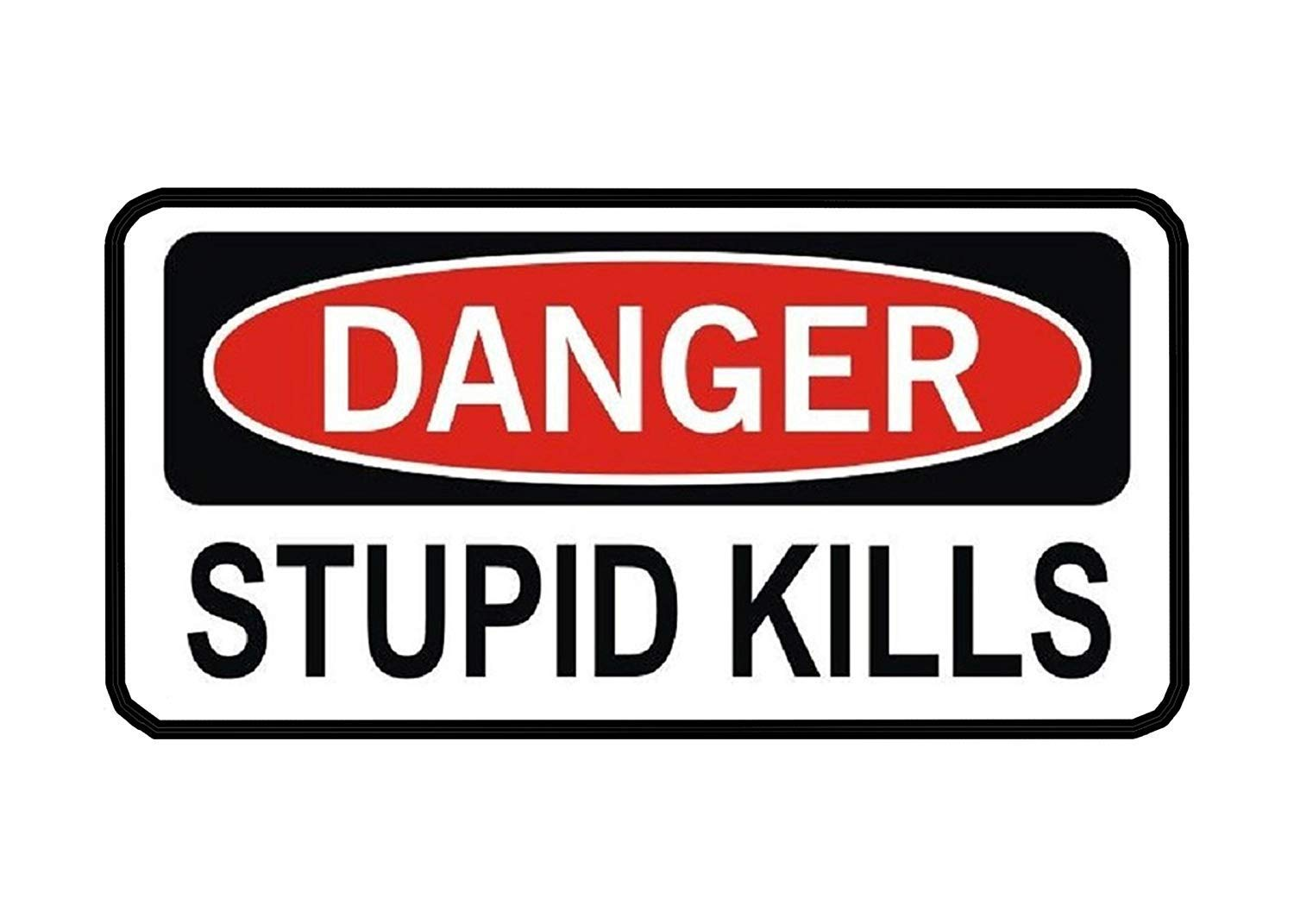 Get quotations · 3 pack danger stupid kills funny work hard hat biker helmet stickers decals toolbox