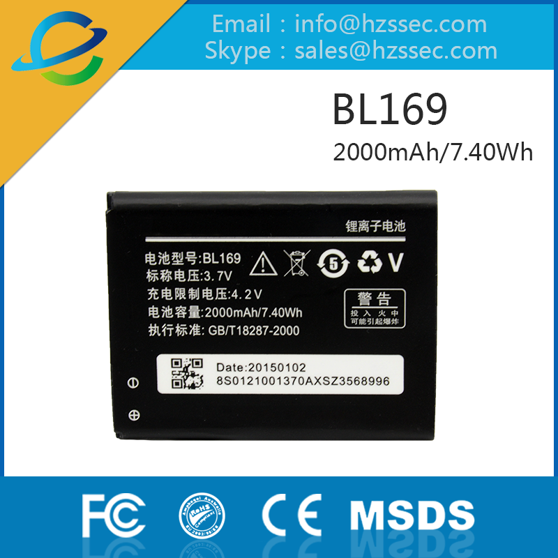 Genuine Mobile Phone battery BL169 with the best price for A789 P70 S560 P800