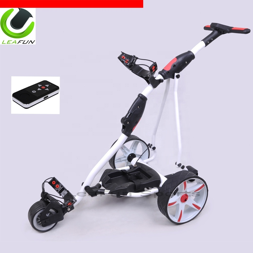 Us Top Sell Golf Trolley 400w Tubular Linix Motor  36 Holes Battery Lithium  Battery Electric Golf Trolley Remote Control - Buy Golf Trolley,Electric