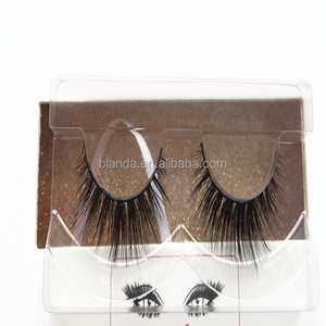 High Quality 3D Mink Hair Long Black Natural Looking Reusable Thick Eyelashes Silk Lashes Variety Fake False Eyelashes
