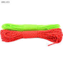 100ft reflective outdoor camping paracord 550 rope