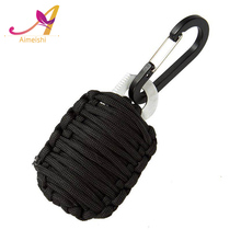Wholesale professional survival series survival keychain with fishing bag black 480 550 survival kit