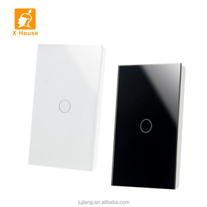 AU/US standard wall switch glass touch switch 1-3 gang with CE,FCC JJ-US-01AB