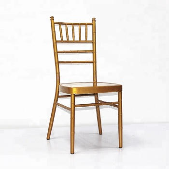 Cheap Stackable Golden Chiavari Chair For Hotel