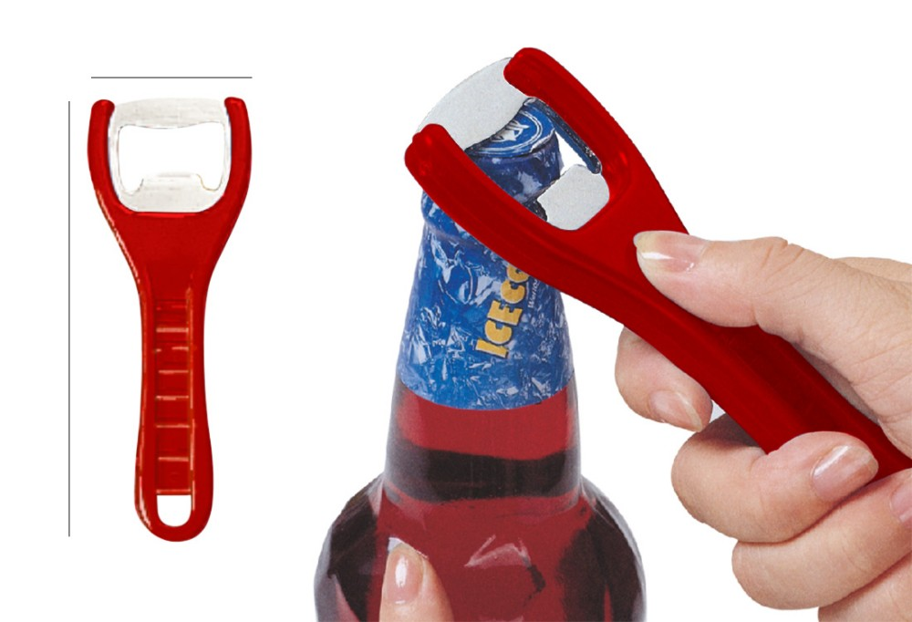 Wholesale good quality plastic handle chrome plate blade bottle opener