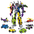 With Package 6 PCS Set Transformation Robot Cars Autobots and Bruticus Toys Action Figures Block Toys