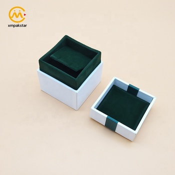 On your demand made white lid and base cardboard bracelet earring packing paper ring gift box