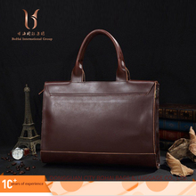 Best selling black or brown men vintage pu leather tote bag