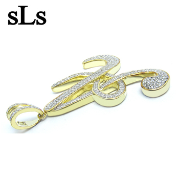 Funny Pendant For Men ,Men'S Silver Pendant 925,Big Pendant A Letter Pendant Yellow Gold Plated Jewelry