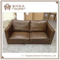 Modern european style furniture genuine leather office reception sofa