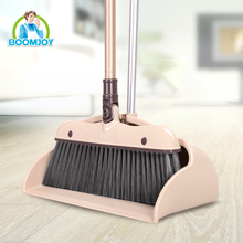 2016 boomjoy aluminum handle plastic dustpan and broom set
