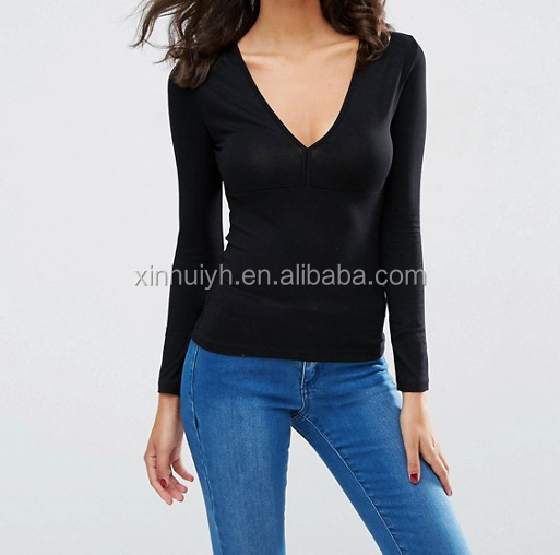 26f84e1daa84 China Women Cotton Spandex Long Sleeve T Shirt, China Women Cotton Spandex Long  Sleeve T Shirt Manufacturers and Suppliers on Alibaba.com