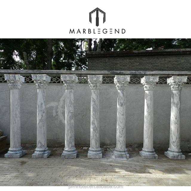 PFM Entrance Gate Round Pillar Designs Marble Stone Column For Sale