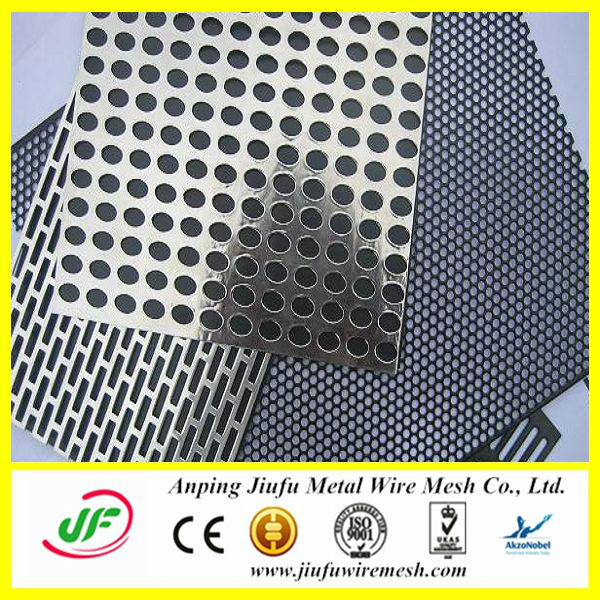 1mm hole galvanized / aluminum perforated metal mesh plates speaker grille , perforated metal screen door mesh