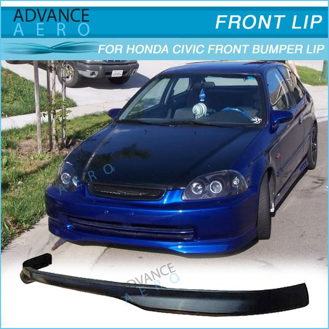 For Honda Civic T R Style Pu Auto Parts Car Accessories Front Bumper Lip Spoiler 1996 1997 1998 Buy Front Bumper Lip For Honda Civic 96 98 Poly
