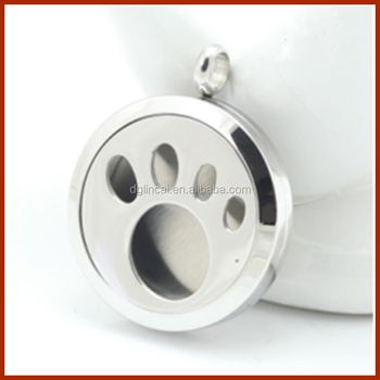 New Design Dog Paw Round Magnet Essential Oil Diffuser Perfume ...