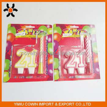 New Arrival Funny Fashion Number 21 Birthday Candle