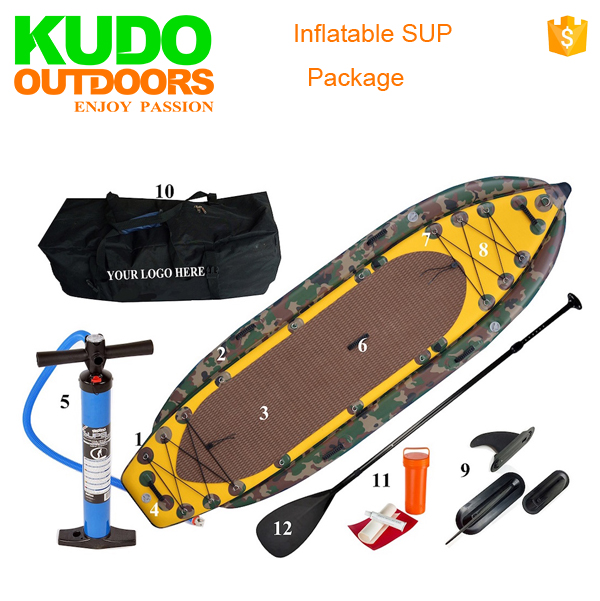 Stable Inflatable Fishing Stand Up Paddle Board With Large Area