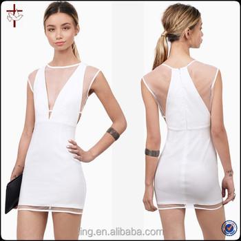 panel de moda de verano mujeres mallaMini de de blanco vestidos blanco vestido 2015 A4xwCT8qW
