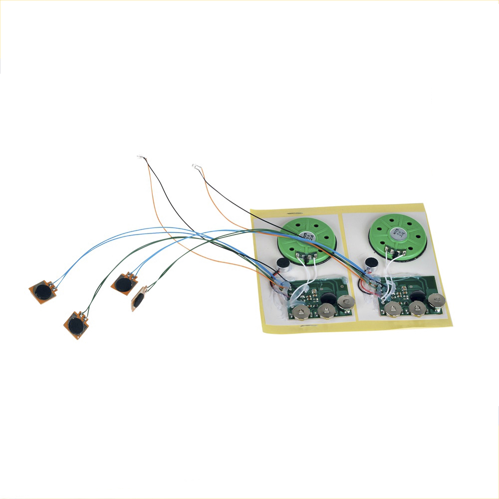 Recordable micro sound voice music chip module for greeting card