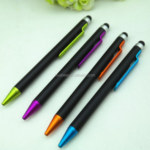Promotional ball pen , Plastic ball pen with stylus , plastic stylus touch ball pen
