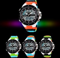 2015 Popular Plastic Wristband Multiple Time Zones Electric Shock Watches