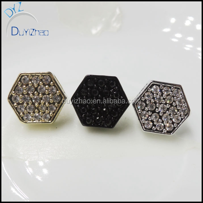 iced out micropaved mens stud earring