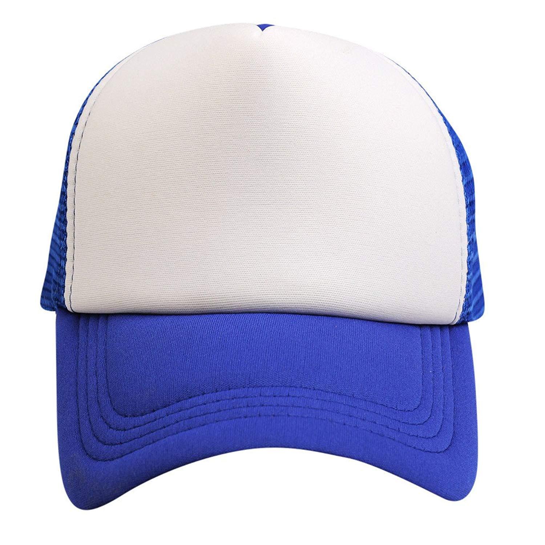 cdae500ce2e5c Get Quotations · Hanican Unisex Women Men Hats Color Block Baseball Caps  Adjustable Mesh Snapback Hat Hip Hop Flat