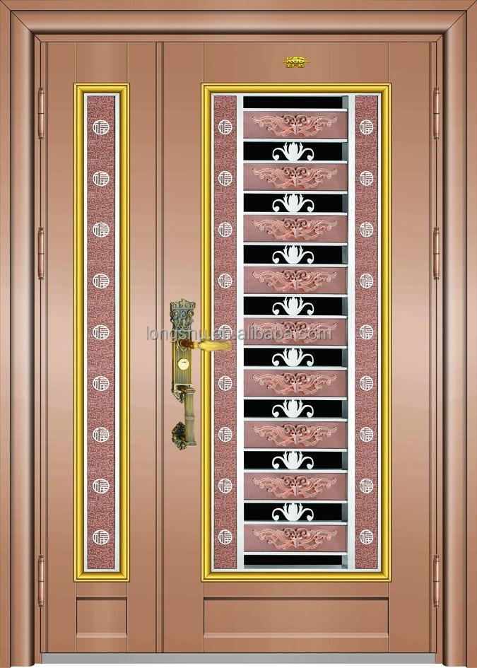 de oro puerta de acero inoxidable para la decoracin del hogar