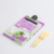 New Design Cheap Beautiful Flower Card Board Metal Clip Notepad with Pen