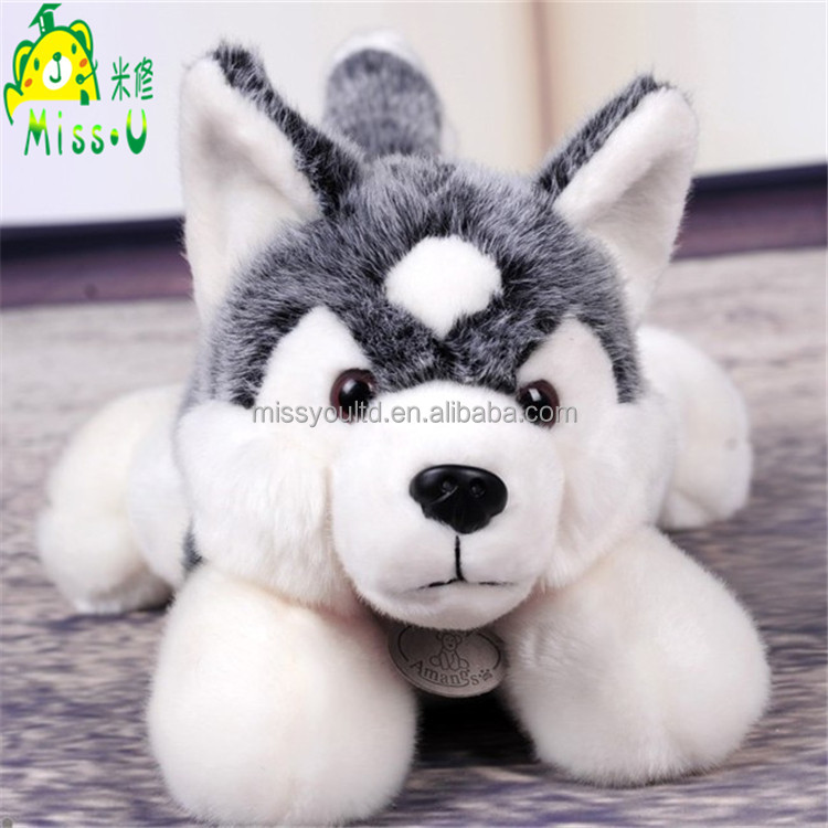 Hot Selling Cute And Lonely Plush Husky Dog Toys