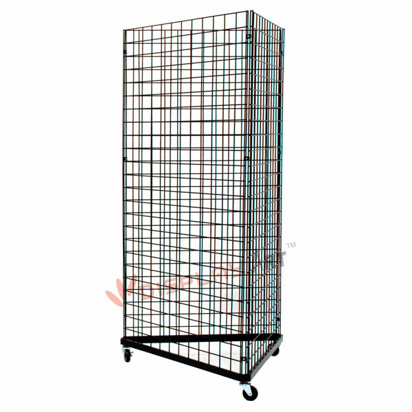 Wire Triangle Grid Wall Display Rack