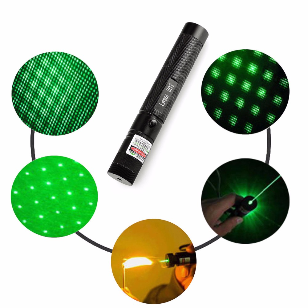 High Quality Promotion 303 Laser Pointer Green laser pointer 18650 Battery Burning Match