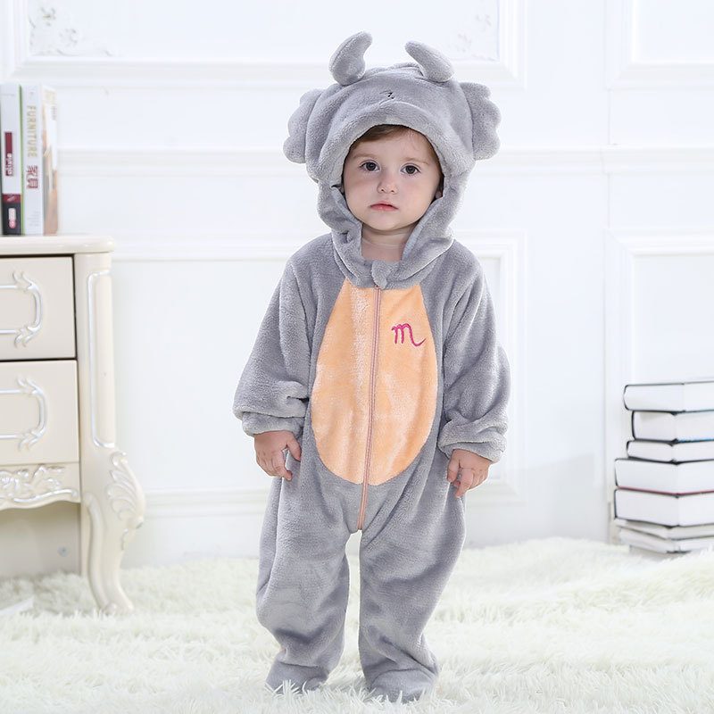 Get Quotations · Fashion Animal Autumn Winter Scorpio Baby Clothes Unisex  One of 12 zodiac signs Footed Pajamas Sleepsuit 9df7dbec1