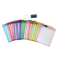 School Supply Reusable Dry Erase Pockets Oversized pouches 10x13 inch Write and Wipe sleeves Erasable Folder Easy Insert
