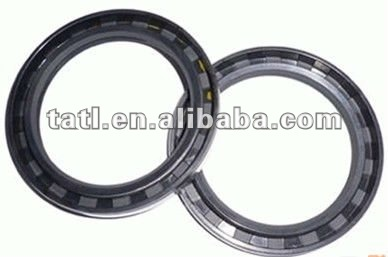 NBR +Cloth Radial shaft oil seal with spring