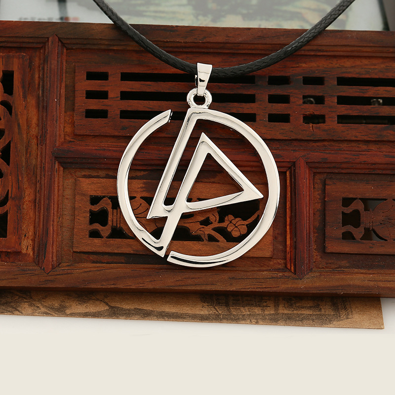 Honour Souvenir Necklace cherish the memory of Linkin Park Group Logo Pendant wax Necklace Silver Plated High Quality