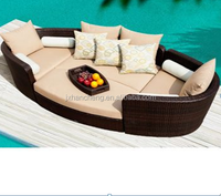 Unordinary modern design china outdoor chatting lounge sofa poly rattan garden furniture