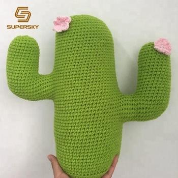 J444 Blume Kaktus Kissen Häkeln Kaktus Kissen Häkeln Kissen