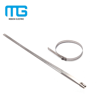 Free Sample Customized self -locking Stainless steel cable Ties with high tensile strength