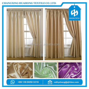 Wholesale heavy weight satin fabric 200gsm 280cm for crest for Crest home designs curtains