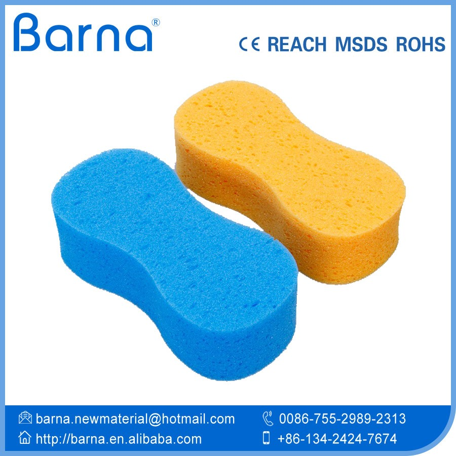 Yellow Auto Washing Clean Sponge Multi Functional Cellulose Sponge Super Soft Washable Car Cleaning Sponge