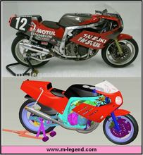 1/12 scale plastic static motorcycle model