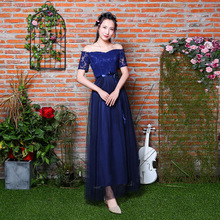Sweet Memory Summer Champagne pink dark blue Bridesmaid dress 7 Styles and 4  colors in stock a675501dbbae