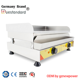 hot selling new design commercial electric planchas cast iron griddle pan pancake griddle plate snack machine with CE