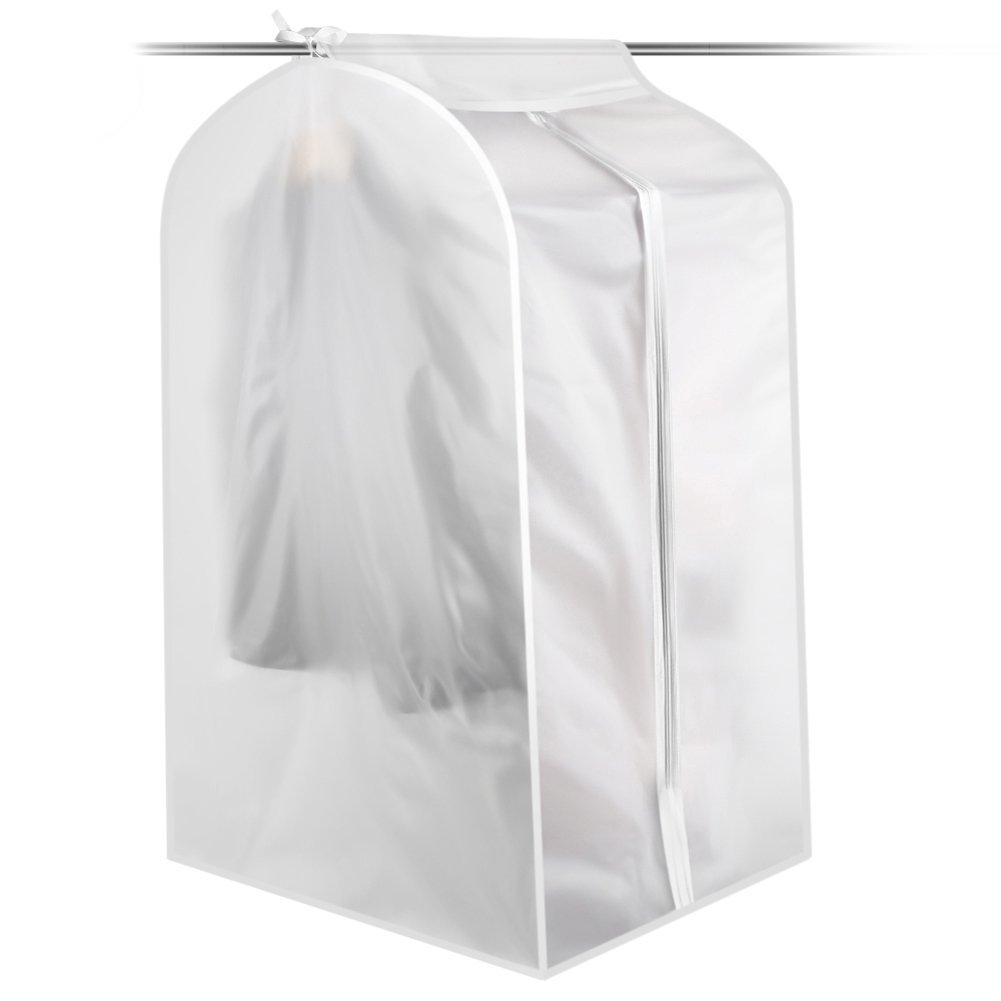 CHYIR Dust proof Garment Cover Clothes Bag Long Dress Moth Proof Garment Bags White Breathable