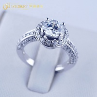 fine Jewellery design ring for women, big diamond cz 100% silver 925 ring price 18K white gold plated sterling silver ring