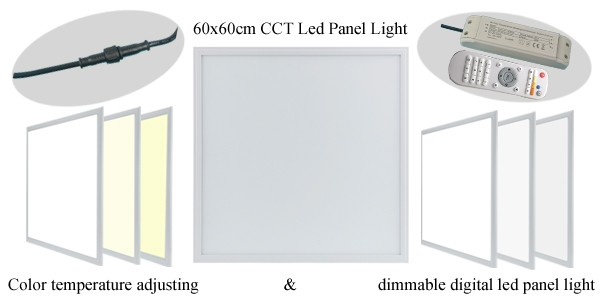 double white color kelvin led panel light digital led light panel hand control recessed led panel light 2x2 for home
