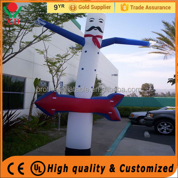 Factory price one leg air sky dancers chef air dancer inflatable sky advertising air dancer